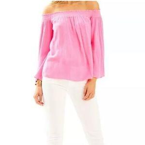 Lilly Pulitzer nita top XS new tiki hot pink